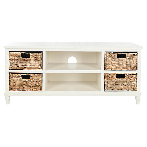 Rooney Media Console, White