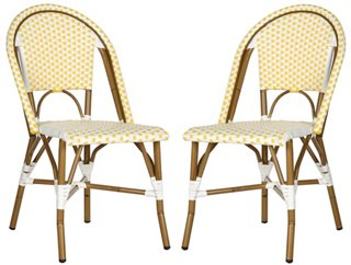 Yellow Sasha Bistro Side Chair, Pair   Side Chairs   Dining Chairs   Dining  Room   Furniture | One Kings Lane