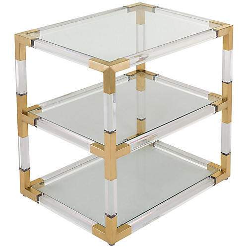 Adaline Side Table, Gold