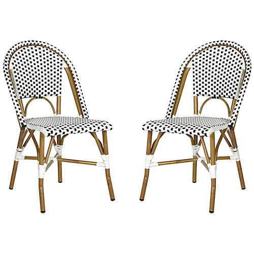 Sasha Bistro Side Chairs, Black