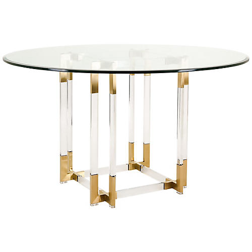 Vivienne Dining Table, Gold
