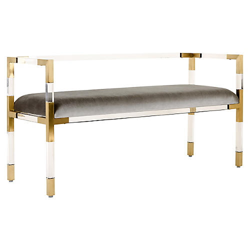 Cana Bench, Gray/Clear