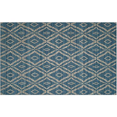 Luyi Kilim, Blue/Gray
