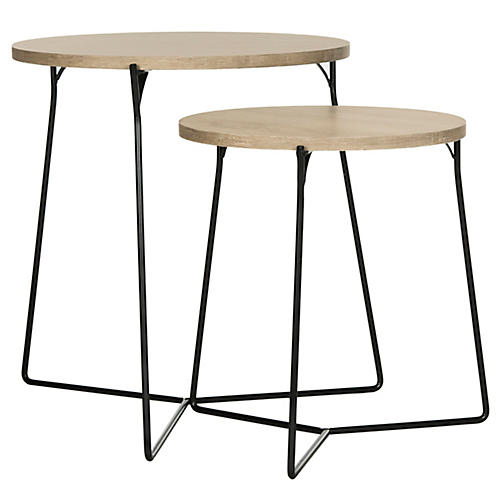 Etten Nesting Side Tables, Natural