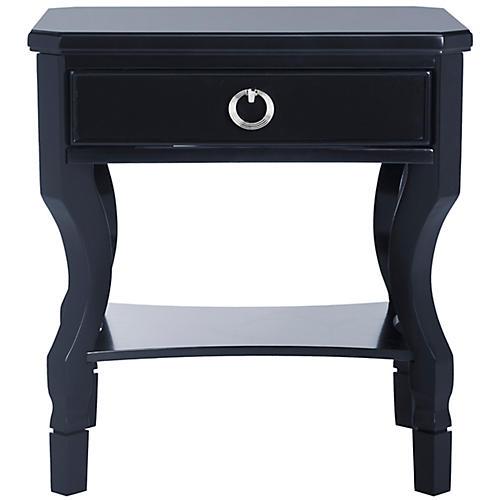 Klass One-Drawer Nightstand, Navy