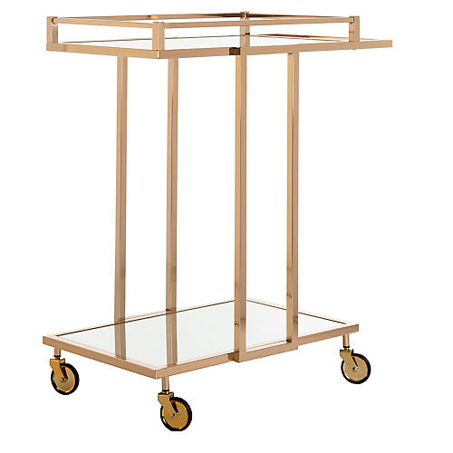 Keppel Bar Cart, Gold