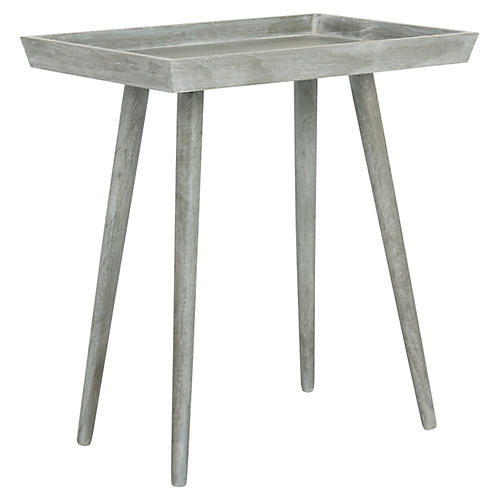 Nonie Tray Table, Slate Gray