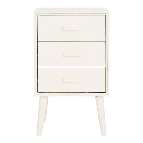 Pomona Nightstand, Antiqued White