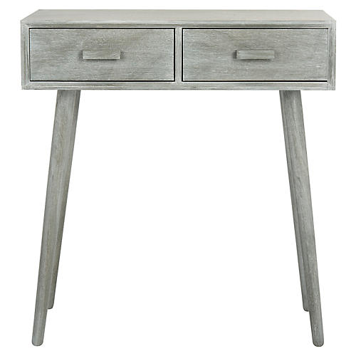 Morris 2-Drawer Console, Slate Gray