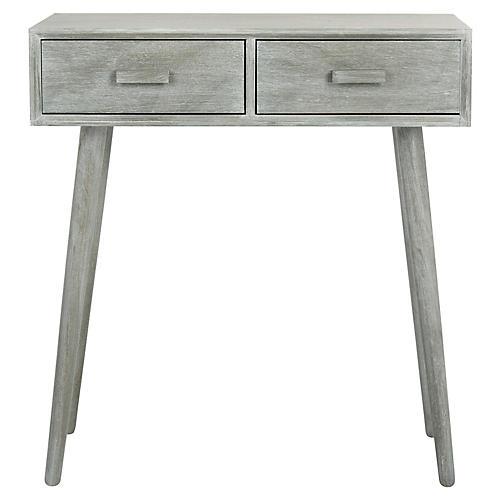 Morris 2 Drawer Console Slate Gray