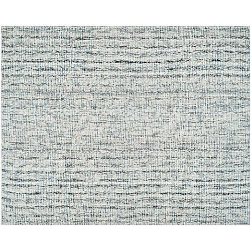 Trager Rug, Blue/Ivory