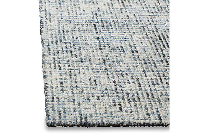 Trager Rug Blue Ivory Contemporary Rugs By Style