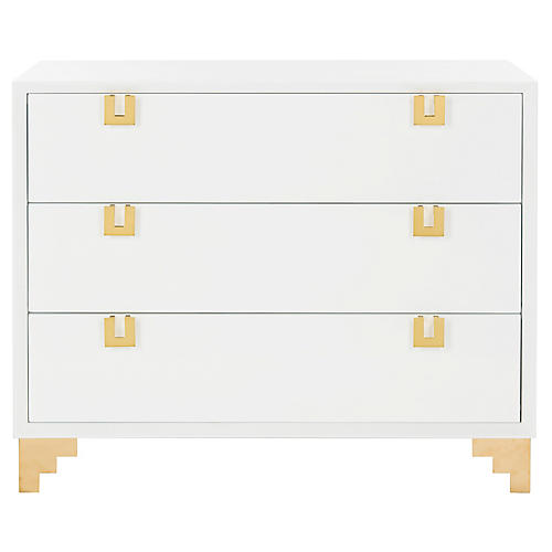 Zuzu Dresser, White/Brass