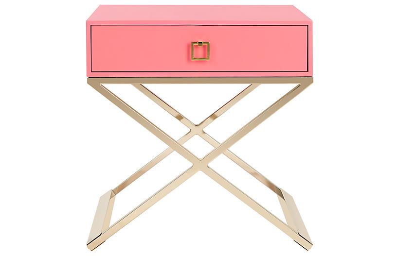 Peck Nightstand, Pink