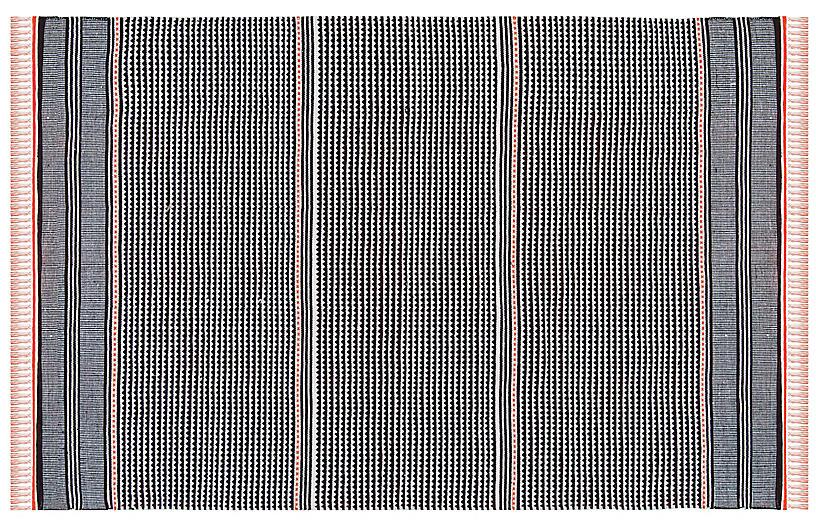 West Flat-Weave Rug, Orange/Multi