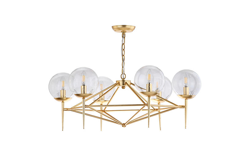 Bellina Chandelier, Gold