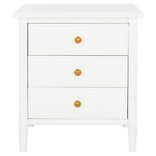 Erickson 3-Drawer Nightstand, White