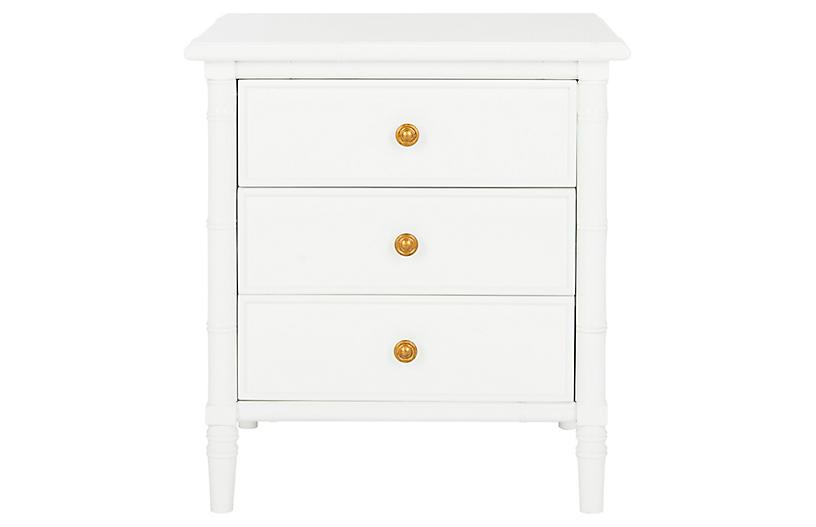 Erickson 3-Drawer Nightstand, White