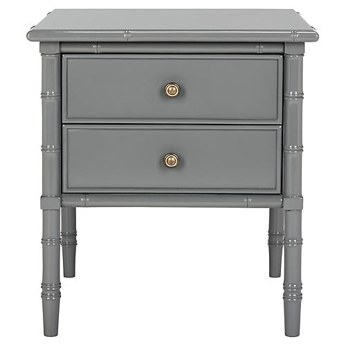 Erickson 2-Drawer Nightstand, Gray