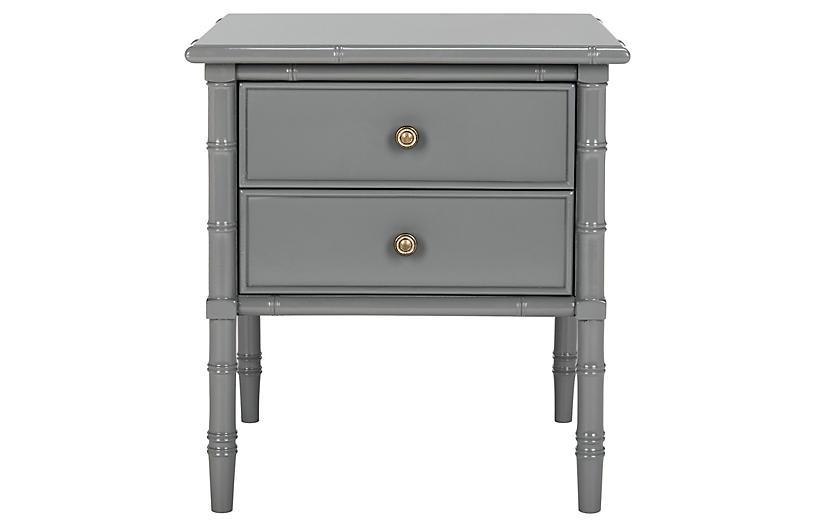 Erickson 2-Drawer Nightstand, Gray