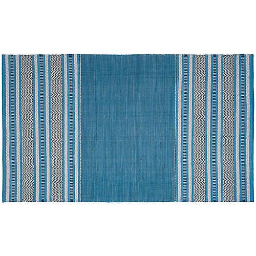 Tauk Flat-Weave Rug, Blue/Gray