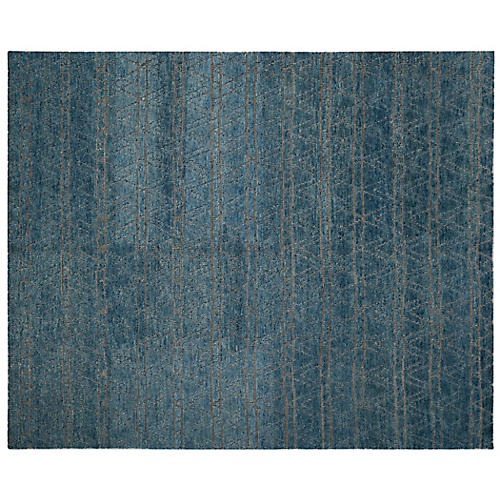 Zobelle Hand-Knotted Rug, Teal