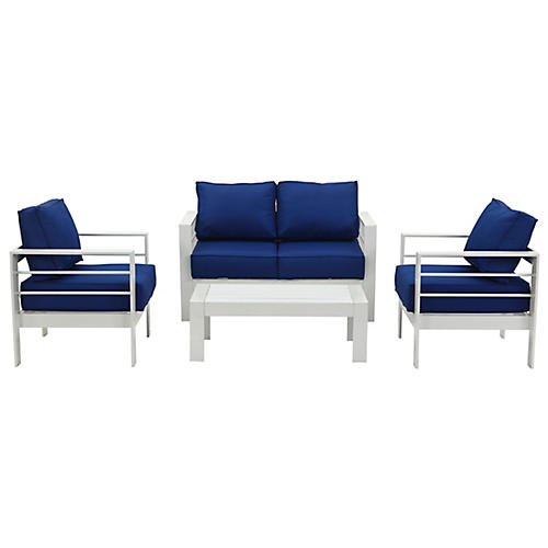 Nason 4-Pc Lounge Set, Navy