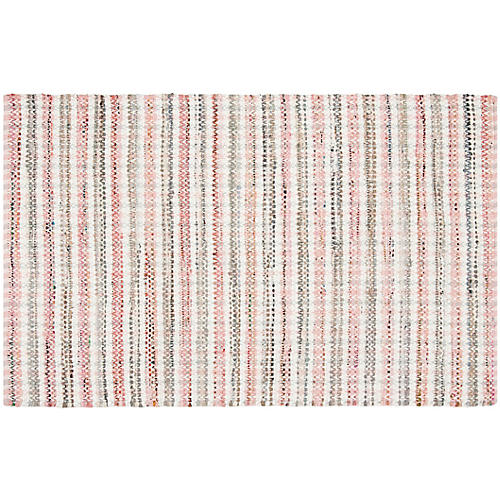 Locklyn Flat-Weave Rug, Pink/Multi