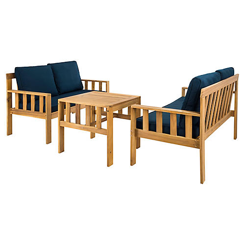 Truro 3-Pc Living Set, Natural