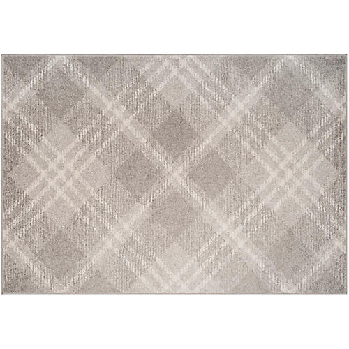 Ussi Kids' Rug, Light Gray/Ivory