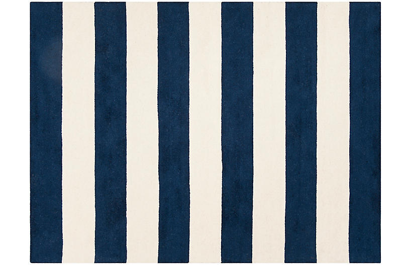 Tuux Rug, Navy/Ivory