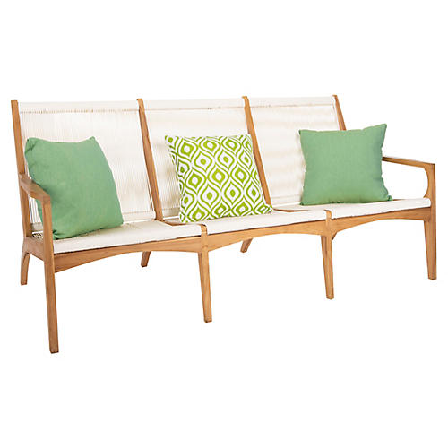 Encinitas Sofa, Teak/Cream