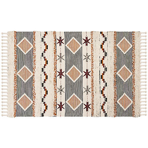 Kabira Hand-Knotted Rug, Ivory/Multi
