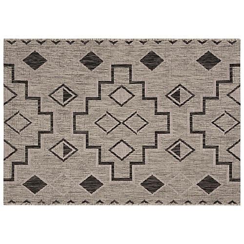 Eleni Indoor/Outdoor Rug, Gray/Black