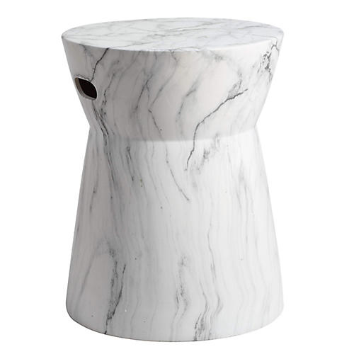 Eden Garden Stool, White/Black