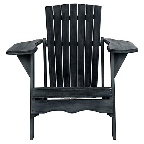 Mopani Adirondack Chair, Dark Slate Gray