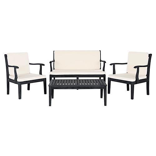 Bradbury 4-Pc Lounge Set, Dark Slate Gray