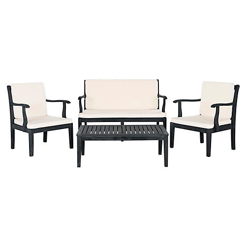 Del Mar 4-Pc Lounge Set, Dark Slate Gray