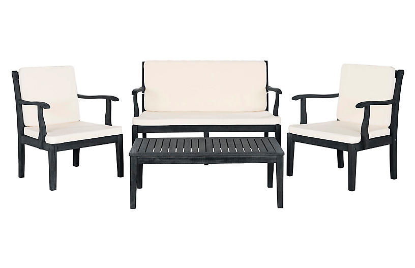Del Mar 4-Pc Lounge Set, Dark Slate Gray