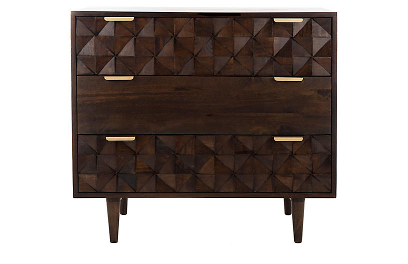 Neba Nightstand, Walnut