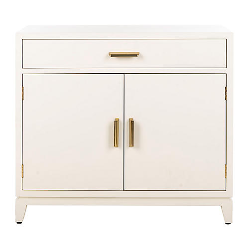 Huston Cabinet, White