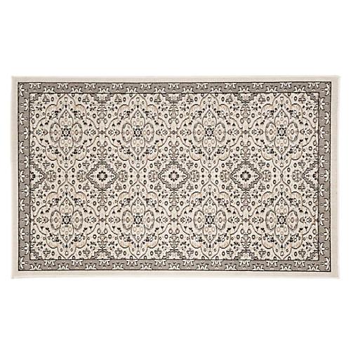 Macey Indoor/Outdoor Rug, Ivory/Gray