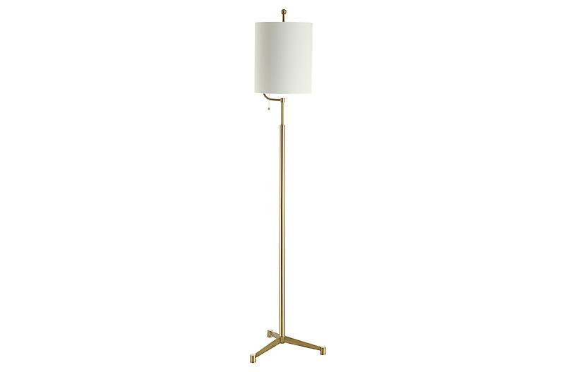 Eleanor Floor Lamp, Brass