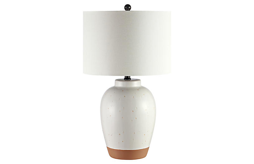 Piper Table Lamp, Speckled Ivory Glaze