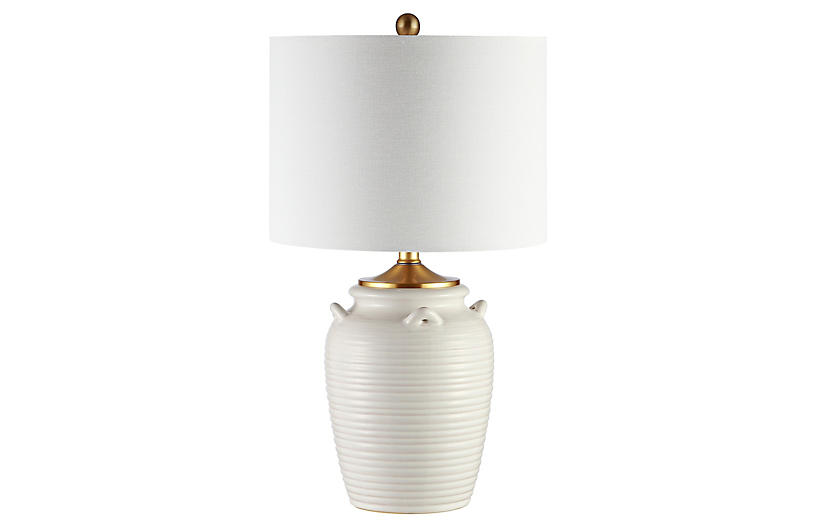 Elena Table Lamp, Ivory