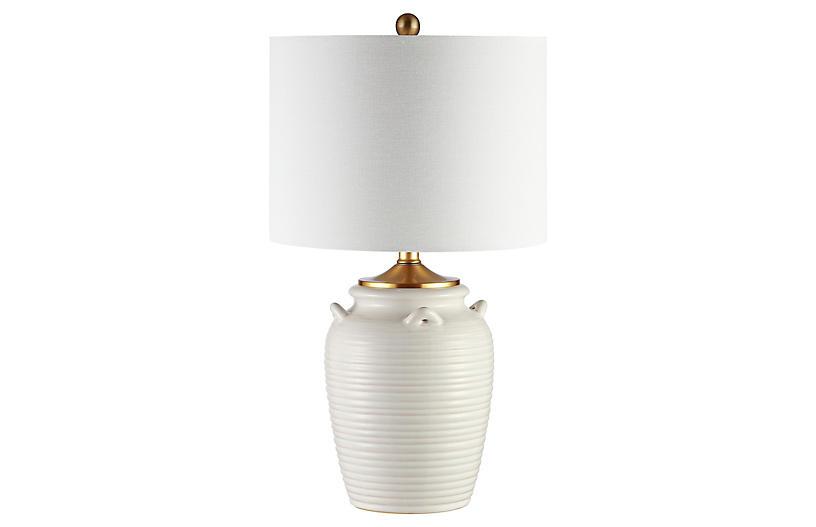 Elena Table Lamp, Ivory