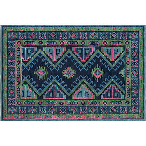 Taylor Kids' Rug, Navy/Hot Pink