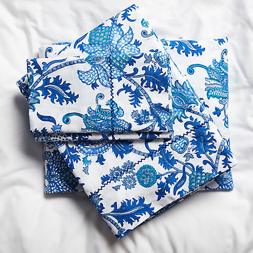 Amanda Sheet Set, Blue
