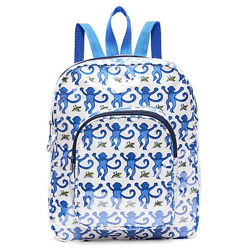 Monkey Kids' Backpack, Blue