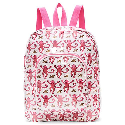 Monkey Kids' Backpack, Pink